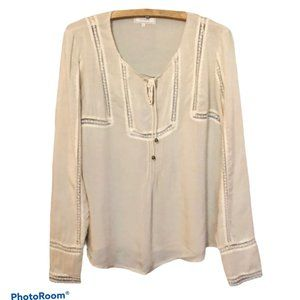 Cream Elly Blouse Top Size 8